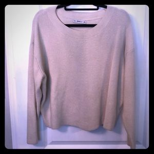 Super cute Zara cropped Ivory Chunky sweater